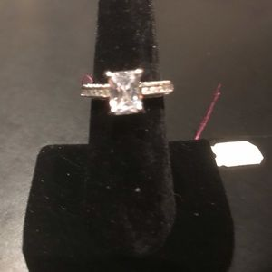 New sterling silver engagement ring